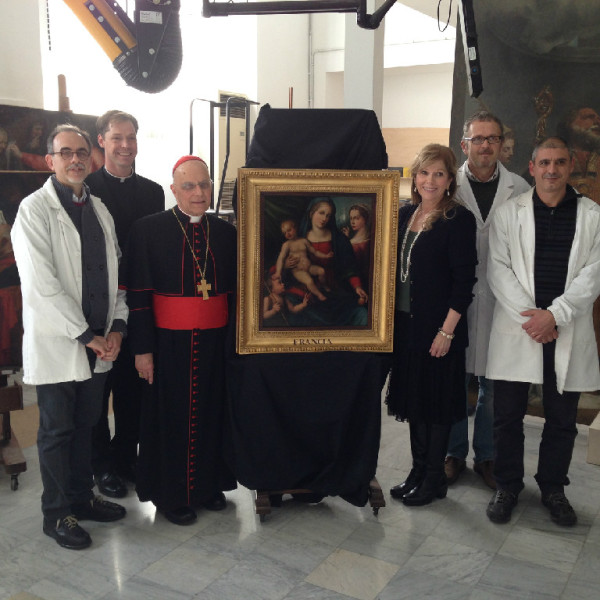 Cardinal George visits the restoration done in his honor