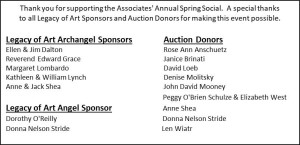 March 19, 2019 Sponsors-Donors